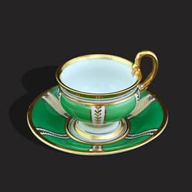 Resim Bavaria 24k altın iş el boyama özel kulp fincan
