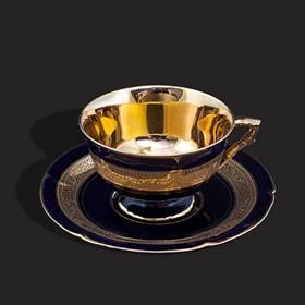 Resim Limoges damgalı 24k altın iş eşsiz fincan