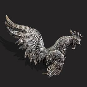 Resim Fransız gümüş kaplama çift eşsiz büyük kuş biblo