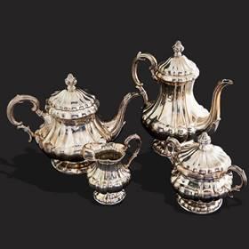 Resim Gümüş Çay Seti
