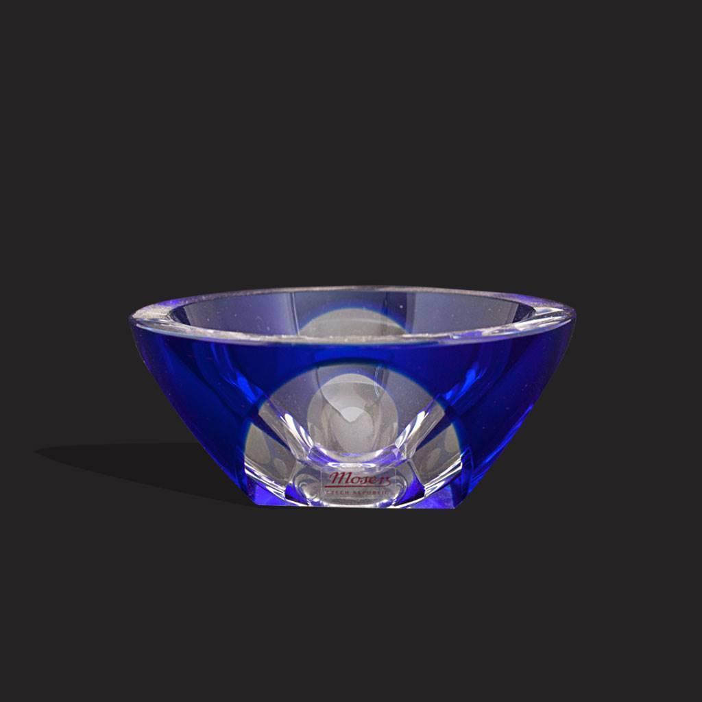 resm Moser damgalı cobalt rengi çek butik kristal küllük