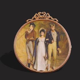 Resim Fransız saray iş bronz çerçeve