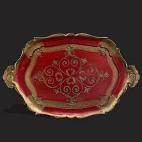 Resim Antika Floransa damgalı 6'lı zarflı şerbet-likör takımı