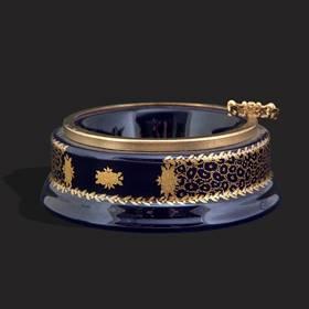 Resim Lacivert Altın Varak Dekoratif Küllük