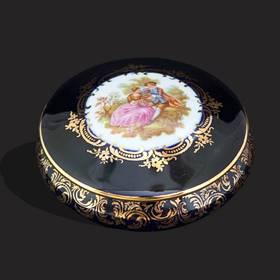 Resim Limoges fragonard 22 k altın kutu