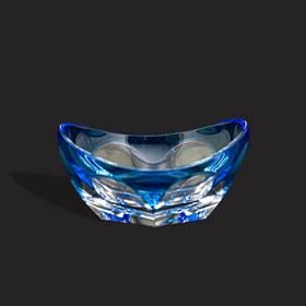 Resim Moser model çek kristali mavi küllük