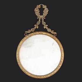 Resim Fransız 200 Yıllık Bronz Saray Çerçeve Ayna
