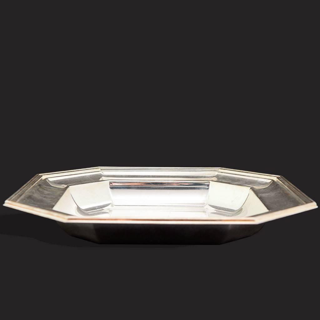 resm Belçika Gümüş Kaplama Servis Tabağı