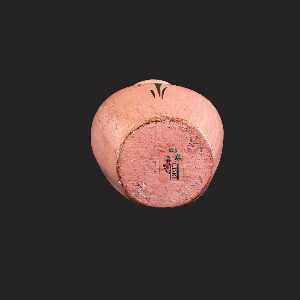 resm Floransa el boyama pudra pembe kuşlu vazo