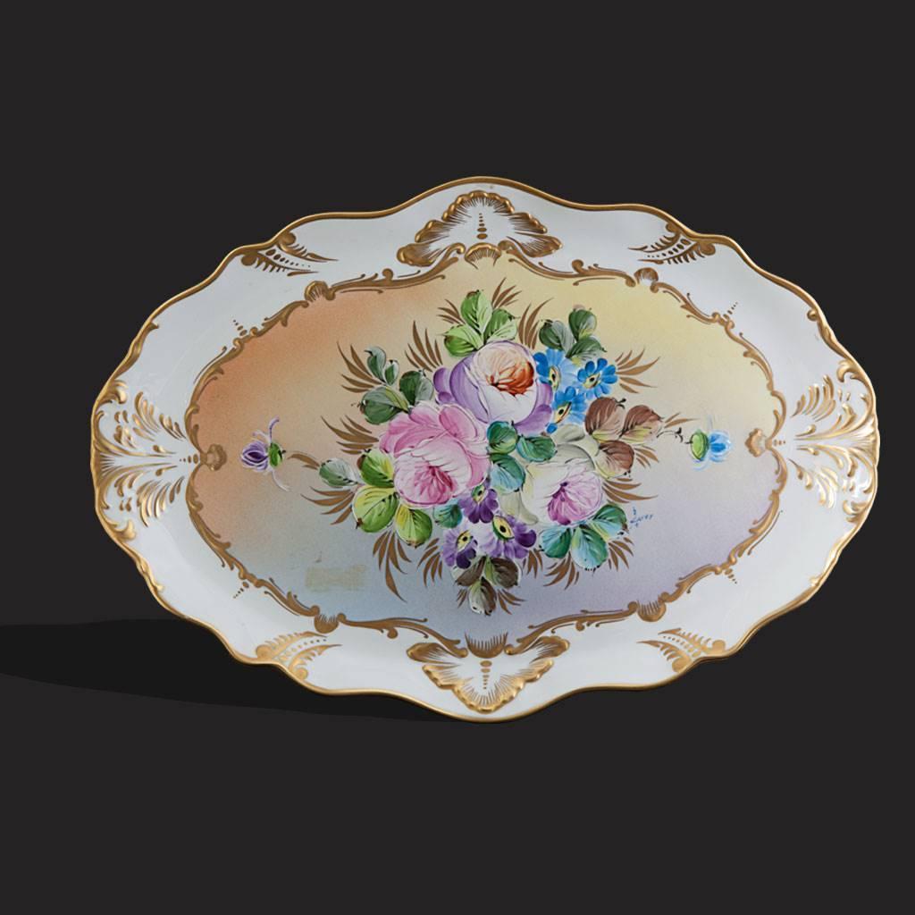 resm Limoges el boyama 24k altın kallavi çorbalık