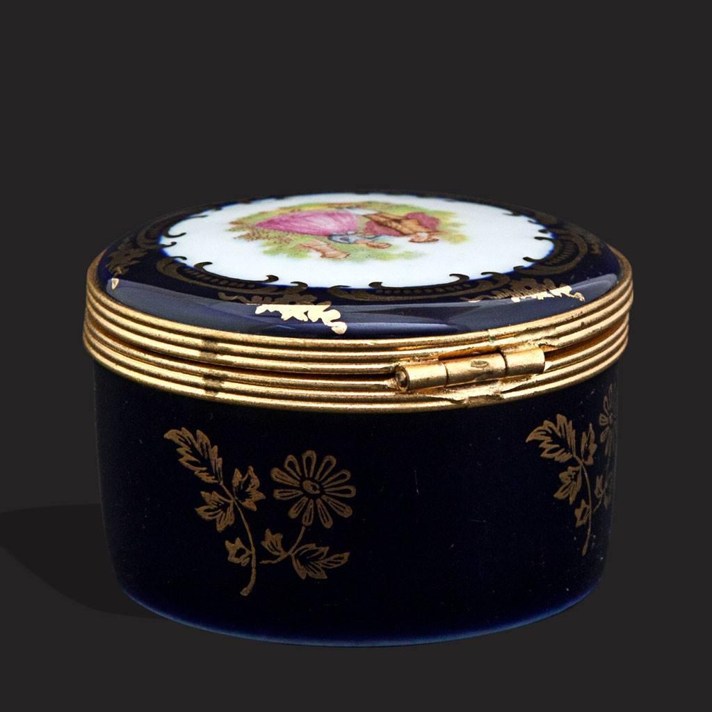 resm Limoges fragonard 22 k altın kutu